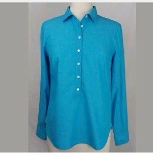 J Crew Popover Shirt Size Small